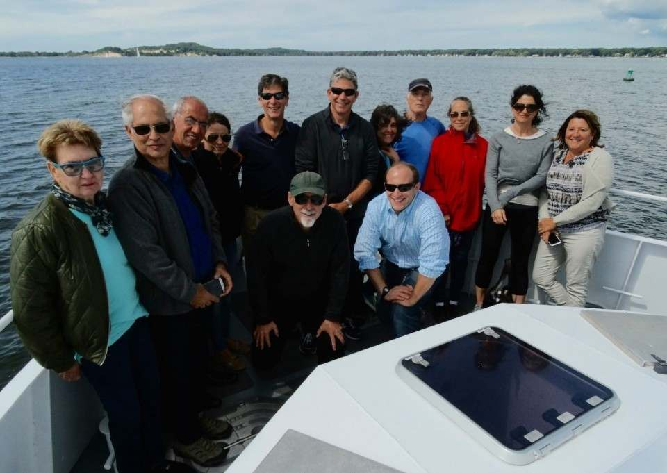 Group photo aboard the W.G. Jackson